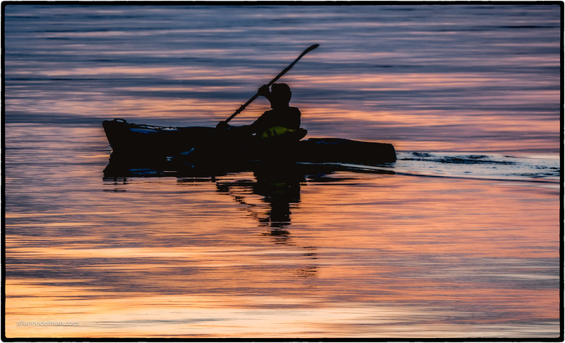 Kayaking Off Into the Sunset