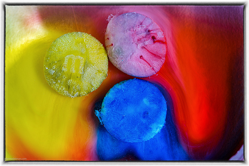M&Ms Dissolving in Water