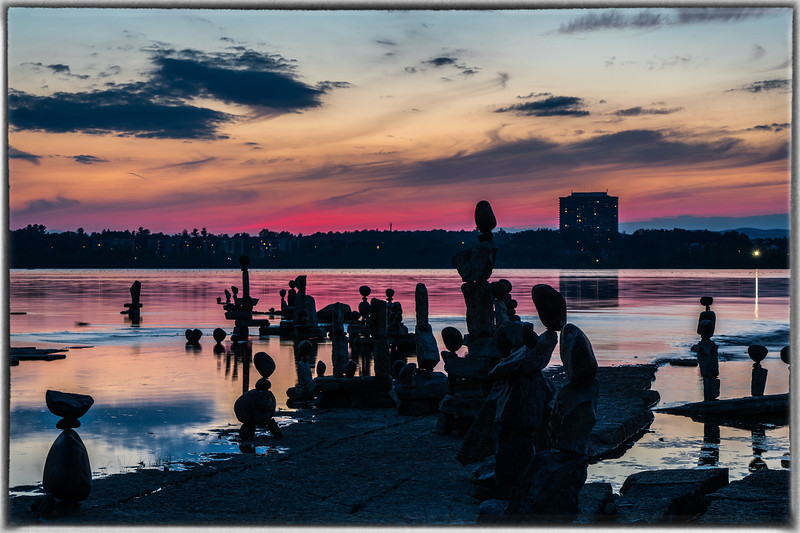 John Ceprano Rock Sculptures Ottawa River at Remic Rapids