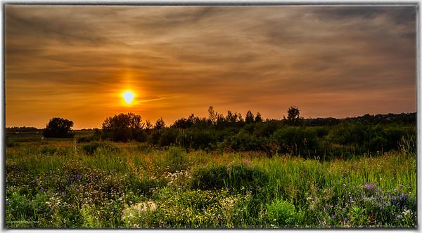 Sunset Over Kanata Field