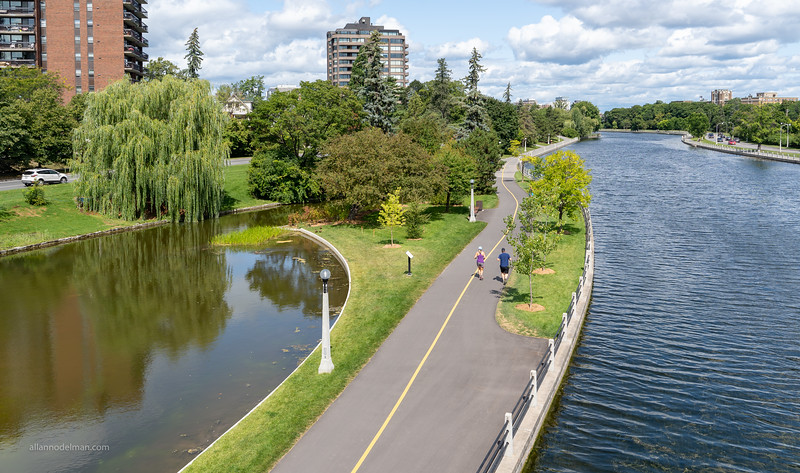 Rideau Canal in the Glebe From Flora Footbridge