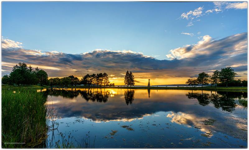 Andrew Hayden Park at Sunset