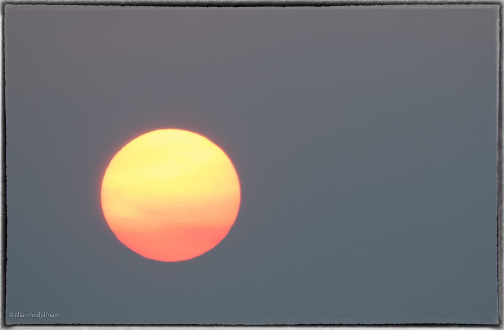 Telephoto of the Hazy Sun