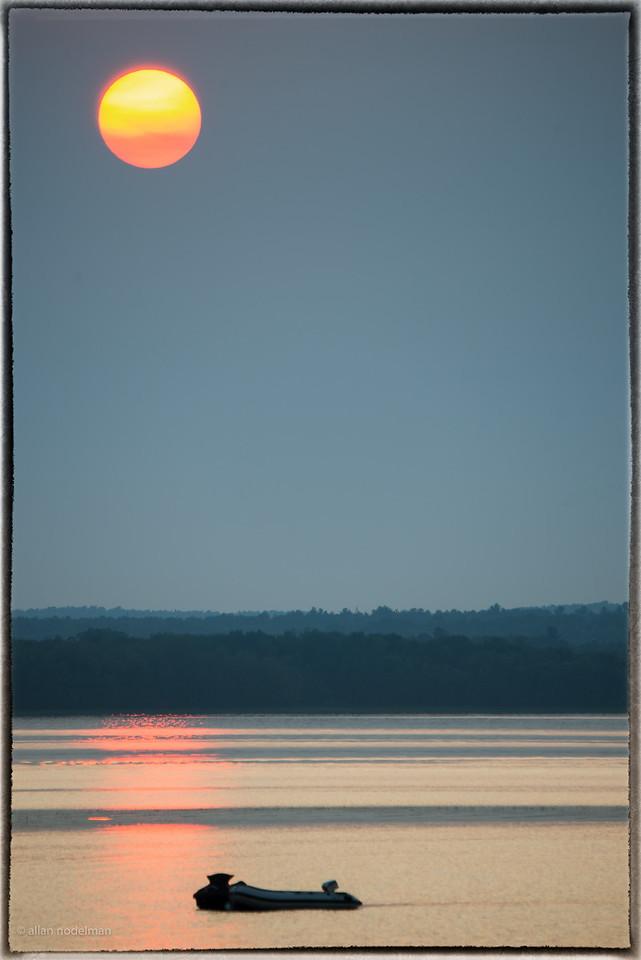 Hazy Sunset July 10