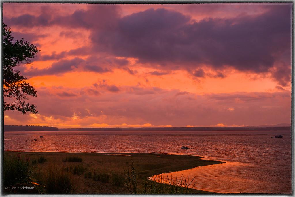 Odd Orange Sky at Sunset