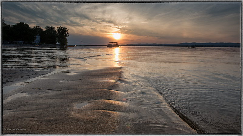 Reflection of Sunset in Sand in Constance Bay