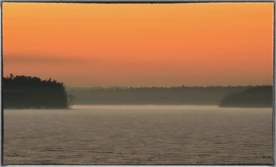 Sunset Over Frozen Ottawa River
