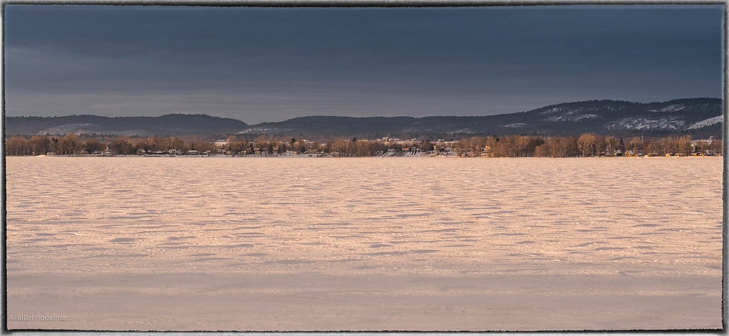 Beautiful Afternoon Light Over the Ottawa River on New Year's Day