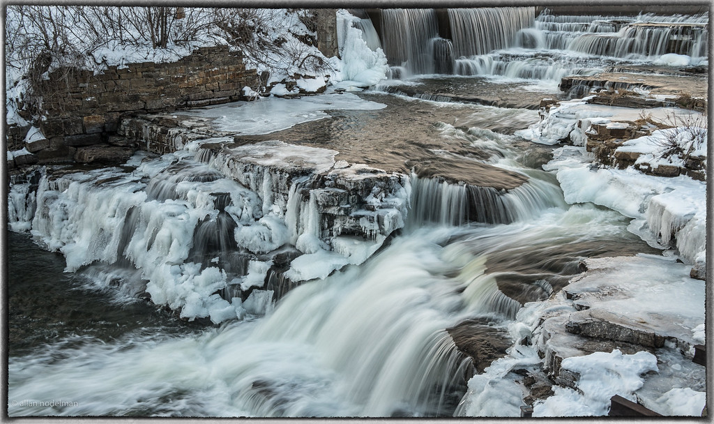 Mississippi River Falls on 1st Day of Winter