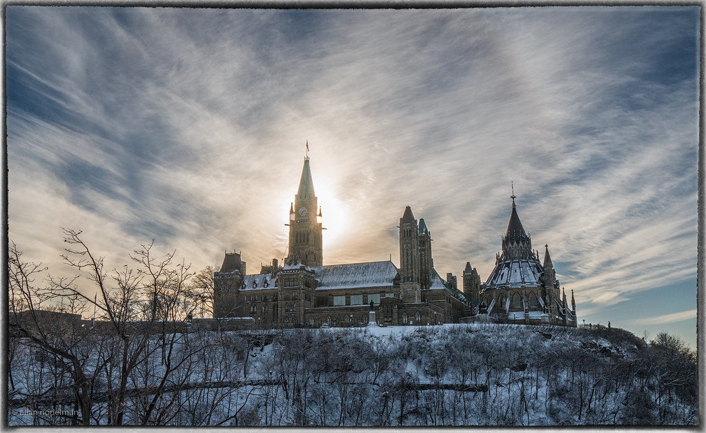 Sun Behind the Peace Tower