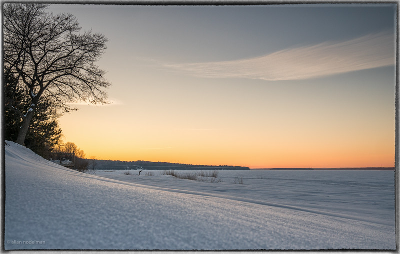 Ottawa River Sunset From Deep Snow
