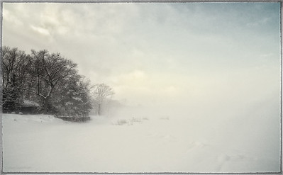 Foggy Beach at Noon After a Snowstorm in Constance Bay