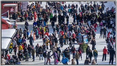 A Busy Rideau Canal Skateway at Winterlude