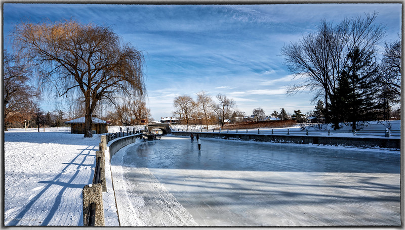 Skating on Patterson Creek-The Rideau Canal in Ottawa