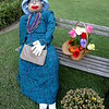 """SCARECROW EXTRAVAGANZA""<br /> <br /> Lady in Waiting?<br /> <br /> Display by Dixie Belles Garden Club<br /> <br /> Wister Gardens<br /> Belzoni, MS"