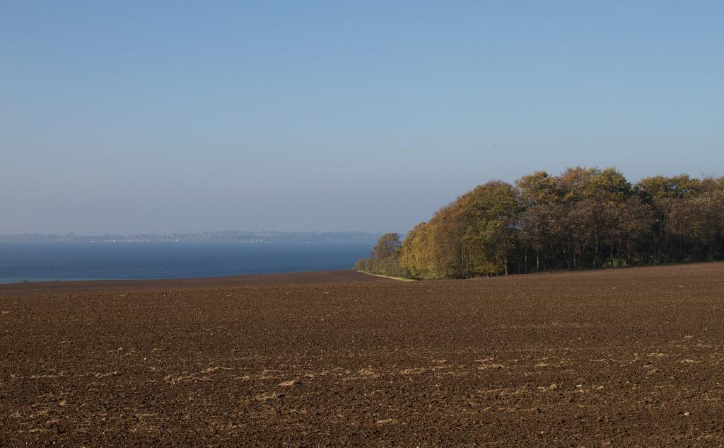 Glumslöv (between Helsingborg and Landskrona). Island of Ven in the background.