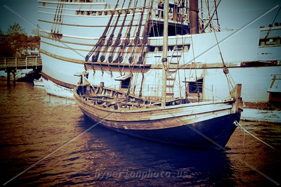 """Tender"" - alongside the Mayflower II"