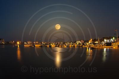 """Super moon"" at Marshfield Yacht Club, 6/22/13"