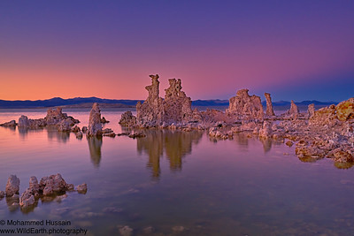 Sunset Over Mono Lake Tufa Towers, Mono Lake, CA