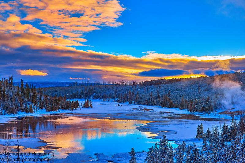 Nymph Lake at Sunset - Yellowstone National Park, WY