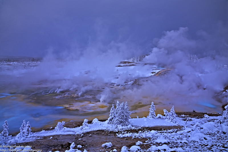 Geothermal Features of Norris Geyser Basin-Yellowstone National Park, WY