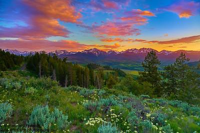 Summer Sunset - Gore Range, Colorado