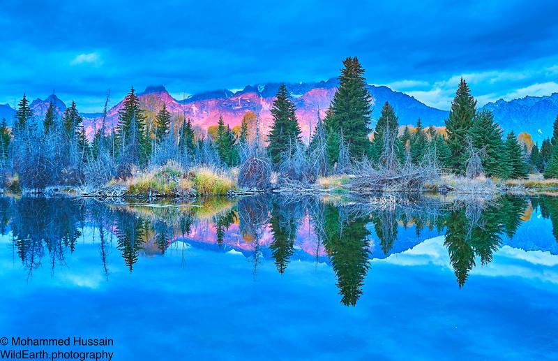 Reflection of Teton Range - Grand Teton National Park, WY