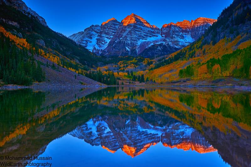First Light - Maroon Bells-Snowmass Wilderness, Aspen, CO