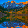 Maroon Bells Sunrise - Maroon Bells-Snowmass Wilderness, Aspen, CO