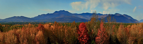 Panoramic View of the Mountains in Fryeburg Maine