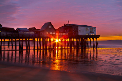 New Day Dawning at Old Orchard Beach, Maine