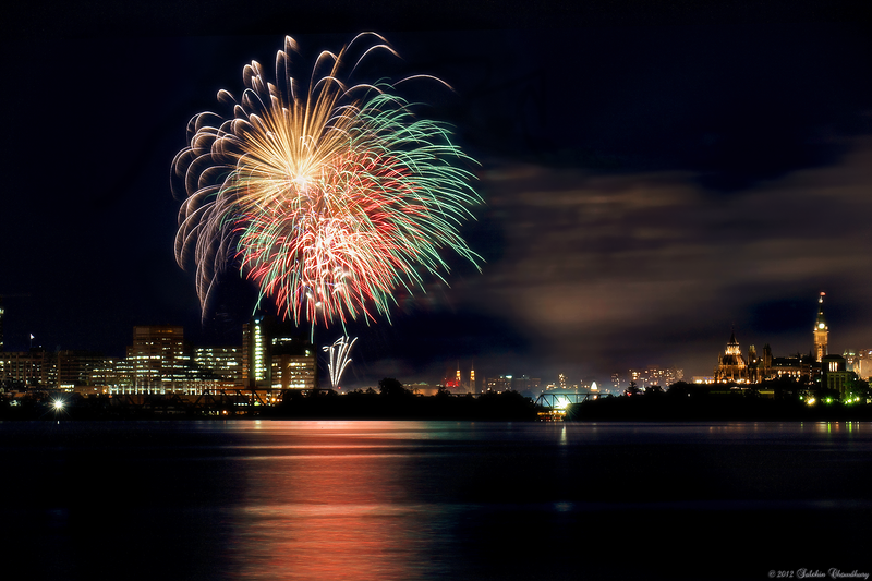 Canada Day Fireworks 2012.