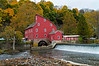 """Red Mill Clinton""  <br /> <br /> The historic Red Mill in Clinton Township in New Jersey on an overcast Autumn day."