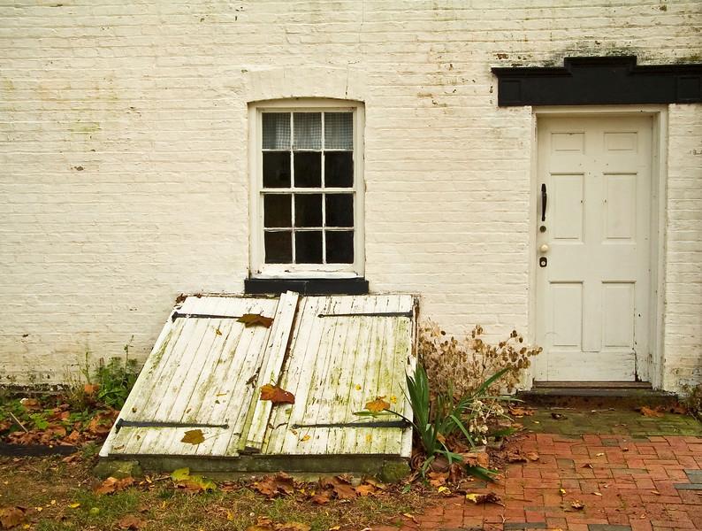 """Cellar Door"" 2005  A historic building in Allaire Village in New Jersey."