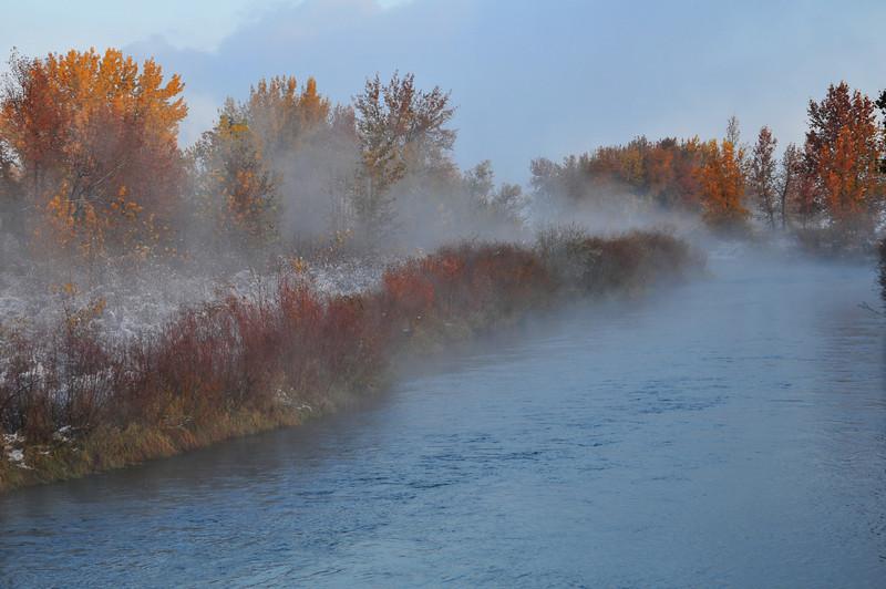 Autumn Mist along the South Platte