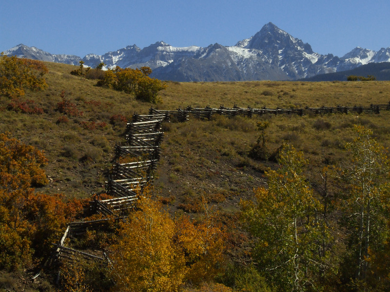 The legendary splitrail fence on Dallas Divide<br /> replaced in 2007