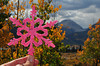 I've known ever since I first learned a mountain in Colorado is named Hope that I would create something in honor of those who have endured a battle with cancer.  I've named my pink snowflake after Mount Hope.