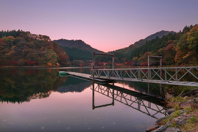 Sunset on Usui Lake