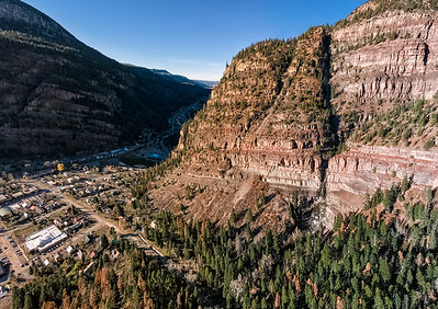 The November sun setting on my thirties, Cascade Falls, and Ouray mountain heaven