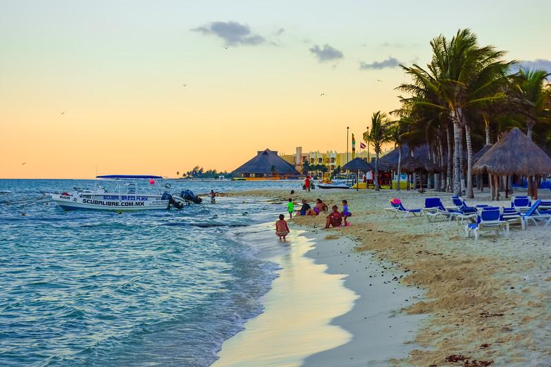 Riviera Maya Beach Scene