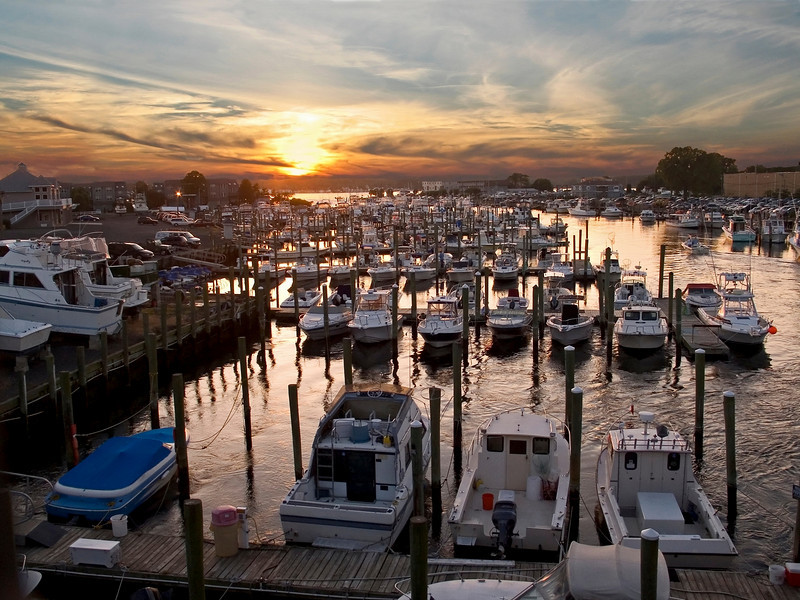 """Marina Sunset""<br /> <br /> Sunset on the Shark River near Belmar, along the Jersey shore."