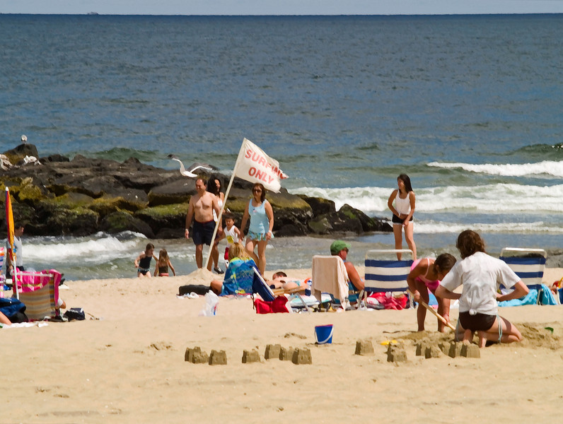 """Avon by the Sea""<br /> <br /> A Summer beach scene in Avon by the Sea, a small beach town along the Jersey shore."