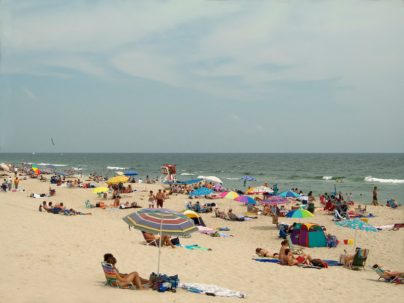 """Island Beach""<br /> Crowds on the beach in Island Beach State Park along the Jersey shore."