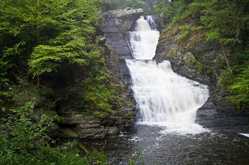 """Ramondskill Falls""<br /> An early morning view of Ramondskill Falls in the Pocono Mountains of Pennsylvania."