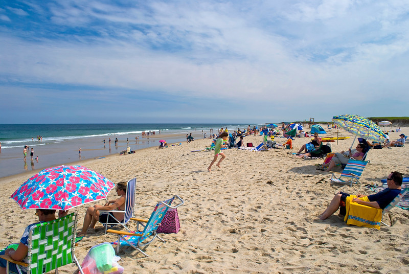 """Nobska Beach Day"" A beautiful Summer day at Nobska Beach on Cape Cod in Massachusetts. Editorial use only."