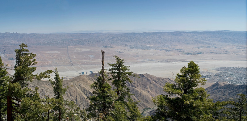 """San Jacinto Panorama""<br /> A panoramic view of Palm Springs from the top of the mountain in San Jacinto State Park."