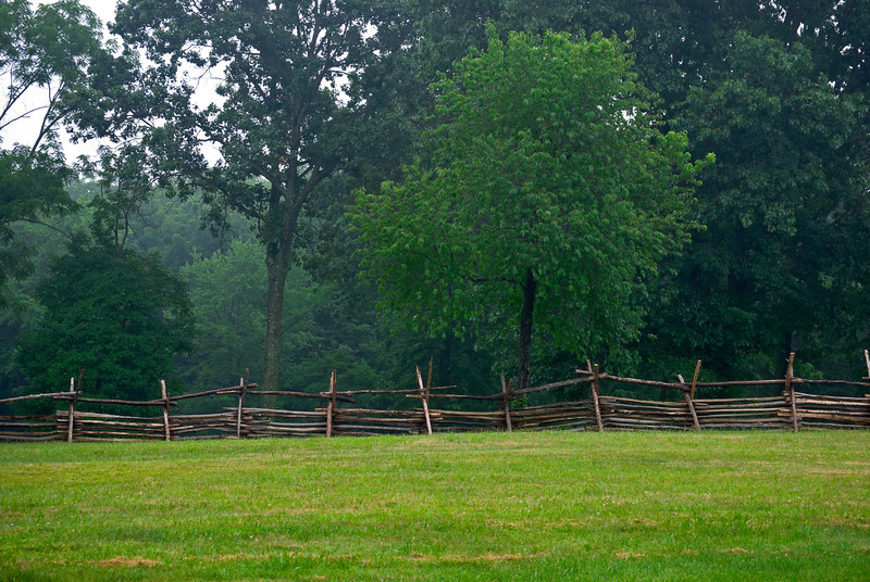 """Fence and Field"" <br />  A Summer view from Monmouth Battlefield State Park in New Jersey."