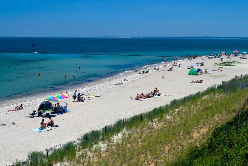 """Oak Bluffs Beach"" 2011<br /> A view of Oak Bluffs Beach on Martha's Vineyard in Cape Cod, Massachusetts."