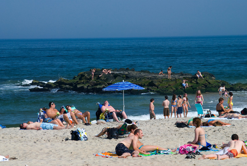 """Belmar Beach Day""<br /> Beach scene in Belmar, along the Jersey shore."