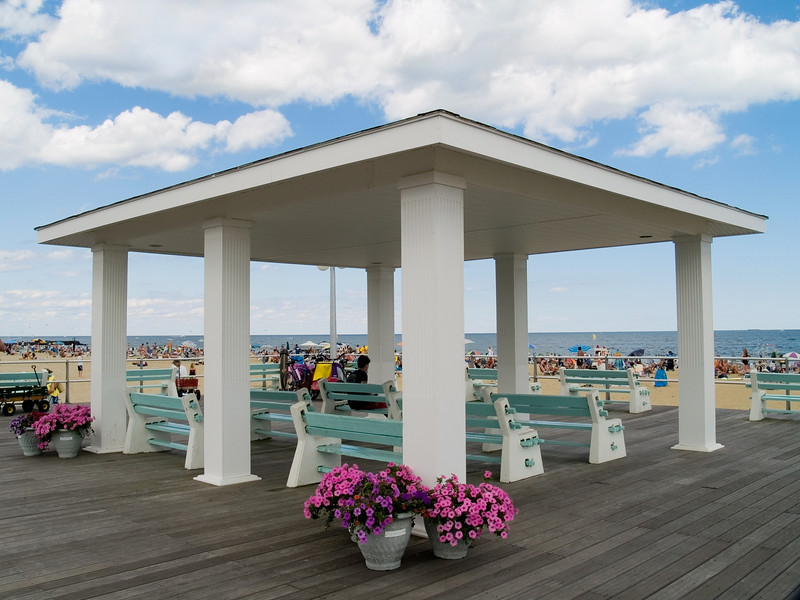 """White Pavilion""<br /> A pavilion on the boardwalk in Avon by the Sea along the Jersey shore."